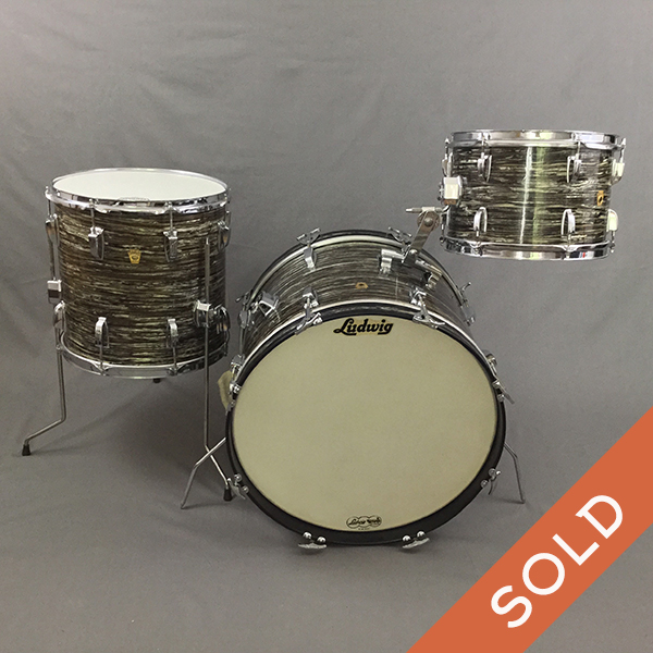 1966 Ludwig Black Oyster Down Beat 20/14/12