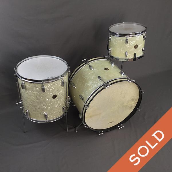 1950s 3 ply Gretsch WMP drum set 22/13/16
