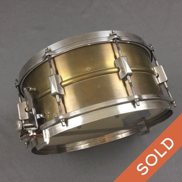 1930s Brass Leedy Broadway Snare 14 X 6.5