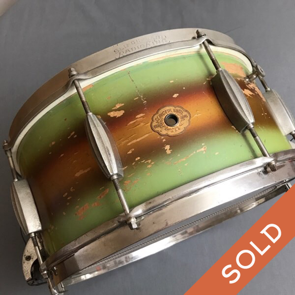 Slingerland 6.5 Lime Green and gold Duco